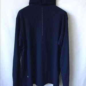 Lululemon Men's Blue Hooded Full Zip Jacket Mint!